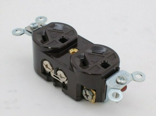 Hubbell HBL5302 Brown Duplex Receptacle