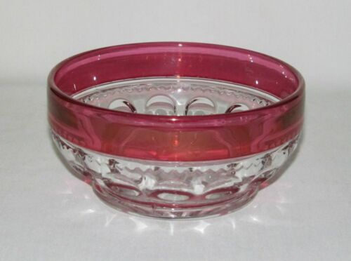 U.S. Glass KINGS CROWN Ruby Stained Round Finger Bowl (Double Flashed)
