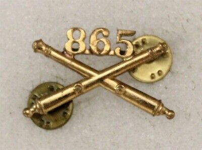 Army Officer's Collar Pin: 865th Field Artillery - nhm