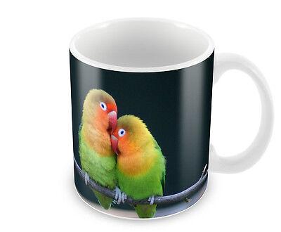 LOVEBIRDS  COFFEE MUG FREE PERSONALISATION