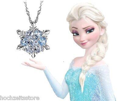 Eiskristall Frozen Elsa Halskette mit Kristal-Element blau ()