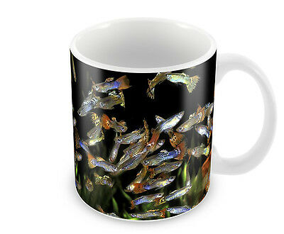 GUPPY   COFFEE MUG   FREE PERSONALISATION  GUPPIES  TROPICAL FISH