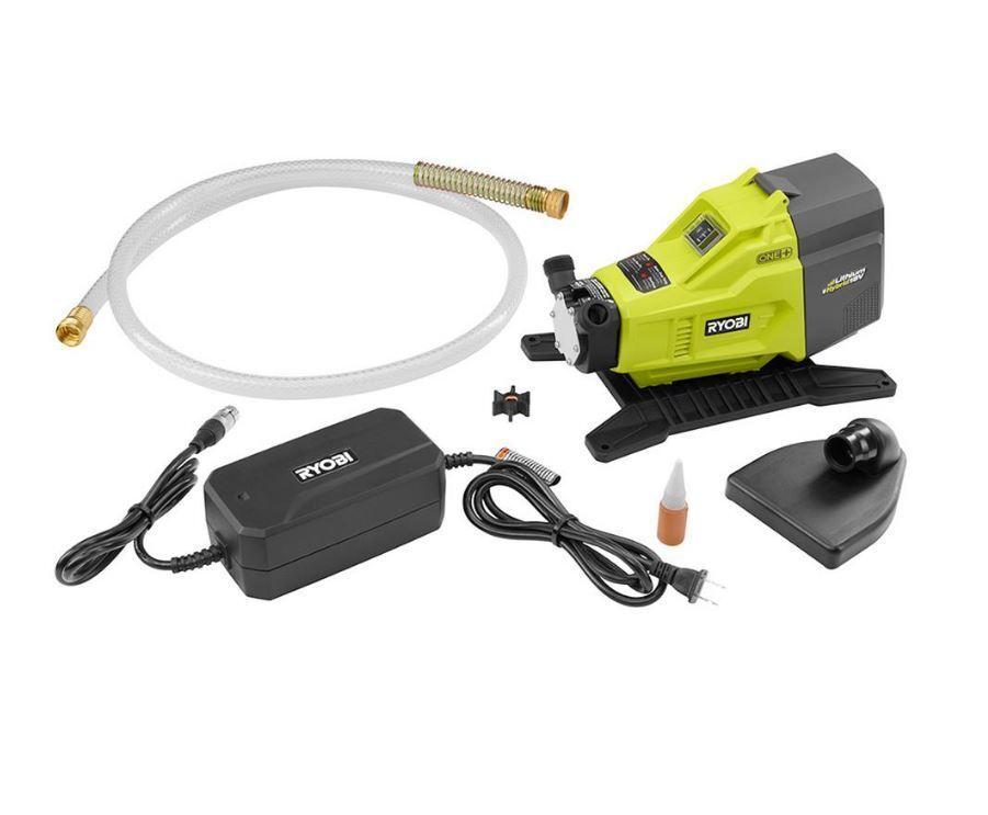 ryobi one plus tools 18 volt hybrid transfer electric water pump extractor hose ebay. Black Bedroom Furniture Sets. Home Design Ideas