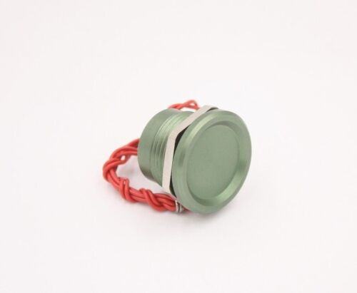 """Touch Switch Aluminum Green 0-24v for 7/8"""" Hole, Piezo Tech, Military Spec ~NEW!"""