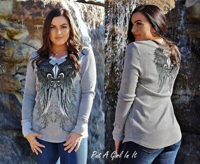 Plus Size Angel (BE VOCAL PLUS SIZE CRYSTAL SAGE GRAY ANGEL WINGS TUNIC TOP SHIRT 1X 2X 3X)