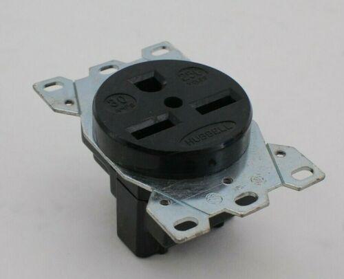 Hubbell NEMA 6-30 Black Power Outlet