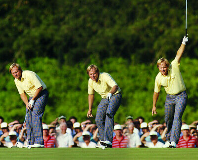 Nicklaus Photo (JACK NICKLAUS 8X10 CELEBRITY PHOTO PICTURE THE 1986 MASTERS)