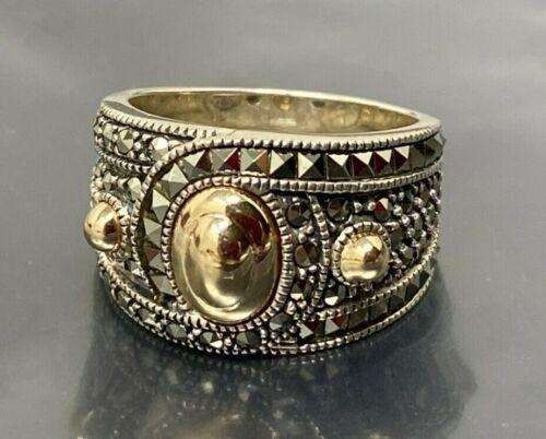 Vintage JJ Judith Jack Sterling Silver Ring size 9