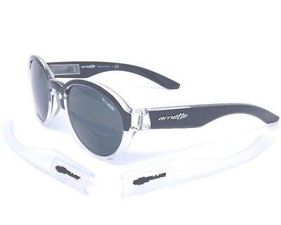 Arnette MOOLAH Sunglasses AN4170-06 2123/87 Clear&Black-2sets temples/ Grey (Arnette Shades)