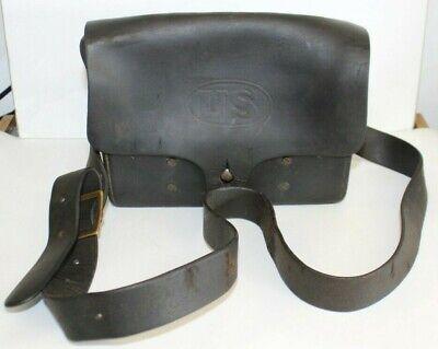 Original US Rock Island Arsenal 1908 Leather Shoulder Ammo Pouch Indian War WWI