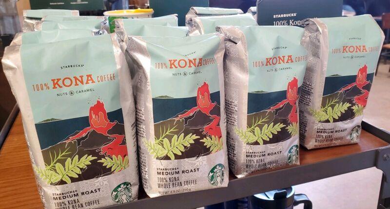 Starbucks 100% Kona Whole Bean Coffee 8.8oz Bag Hawaii (FREE Gift with 5)