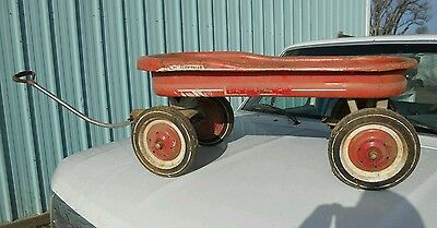 RARE Great condition Antique Western Flyer Atlas Red Metal Wagon
