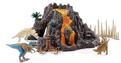 Schleich Dinosaurier Spielset 42305 Riesenvulkan mit T-Rex Vulkan   Neu 2016 !