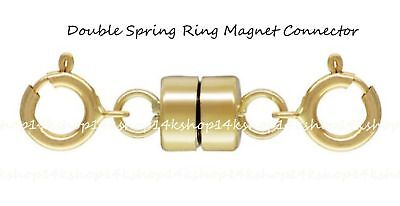 Double Spring Ring 14k Gold Filled 4.5mm  Magnetic Magnet Clasp Connector 14k Gold Filled Clasp
