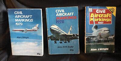 Ian Allan abc Civil Aircraft Markings 1978/79 1987 Alan J Wright John WR Taylor