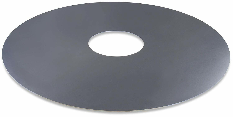 Grillplatte Feuerplatte 80 cm Grill Feuerschale Metallfass Plancha BBQ Grillring