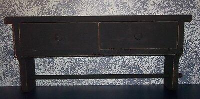 Handcrafted Black Rustic Bathroom Shelf with Towel Rod