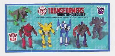 Komplettsatz Transformers Neuauflage Mexiko + Klebebilder Transformers SD386