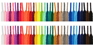 FLAT-COLOURED-SHOE-LACES-SHOELACES-BOOTLACES-10mm-WIDE-2-LENGTHS-30-COLOURS
