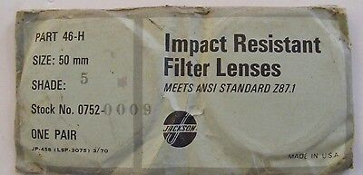 Vintage Jackson Welding Filter Lenses Pair Of Shade No.5 50mm Round Lenses