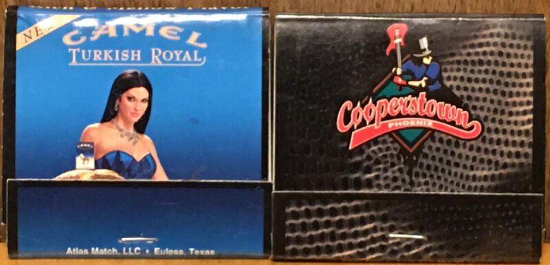 Camel Brand Matches Matchbook Lot Turkish Royal Alice Cooper Cooperstown Used