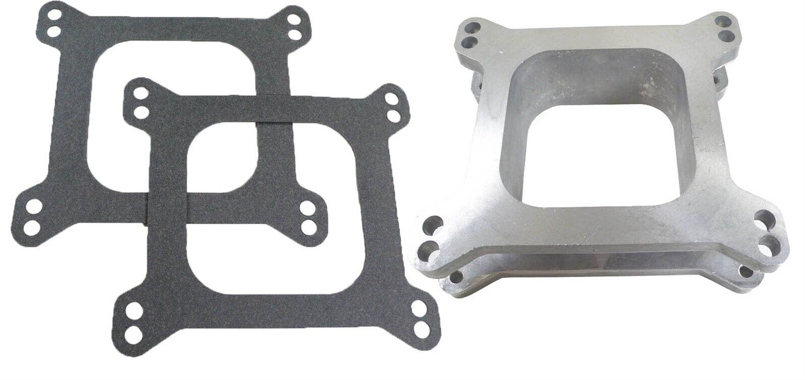 """Holley Edelbrock 2/"""" Tall 4 Hole Phenolic Carb Spacer Chevy Ford Chrysler V8 4BBL"""