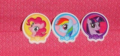 ke/Party Rings,12ct.Food Safe Plastic,DecoPac,Multi-Color (My Little Pony Cupcake Ringe)