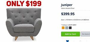 FACTORY SECOND ARMCHAIRS - up to 90% OFF RRP Leumeah Campbelltown Area Preview