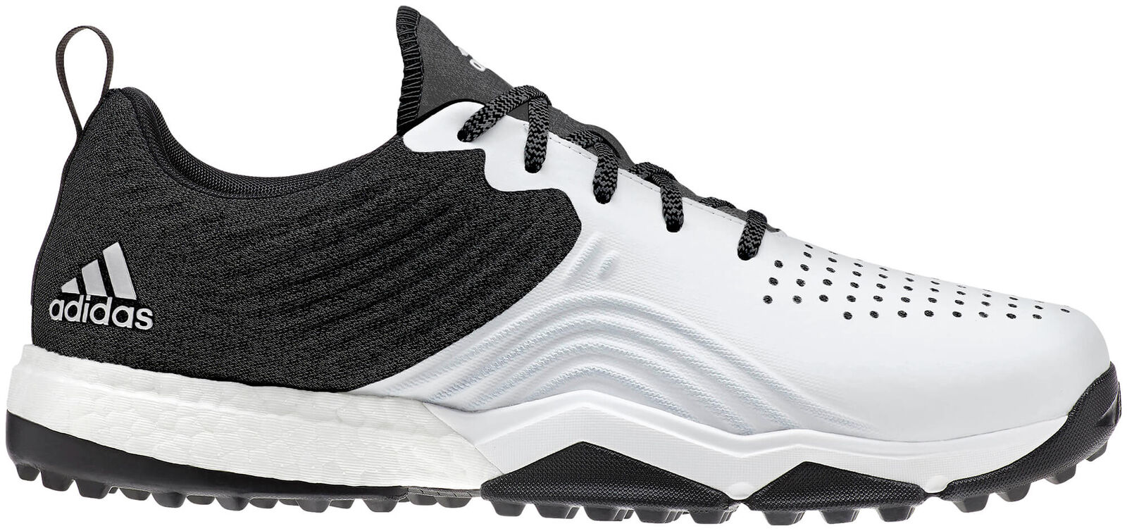 Adidas AdiPower 4orged S Golf Shoes Black/White/Silver Men's New - Choose Size!