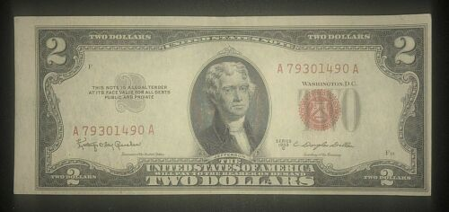 1953 c $2 Red Seal Note - Unc