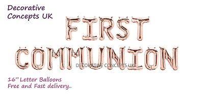 FIRST / HOLY COMMUNION Foil Balloon Banner Kit Communion event Decoration - First Communion Banner Kit