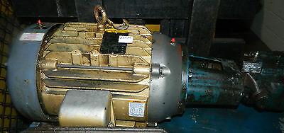 7.5 HP Parker Hydraulic Pump PVP1636R12, & Baldor Motor EM2276T, 230/460V, Used