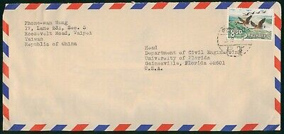 MayfairStamps Taiwan to Gainesville Florida Air Mail Cover wwo60755