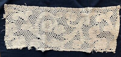 Small study piece continuous bobbin lace peasant probably Flemish 17th C.