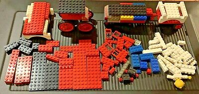 100 PC Vintage 1970's Lego Legoland some pc from #570 Fire House Mixed Lot