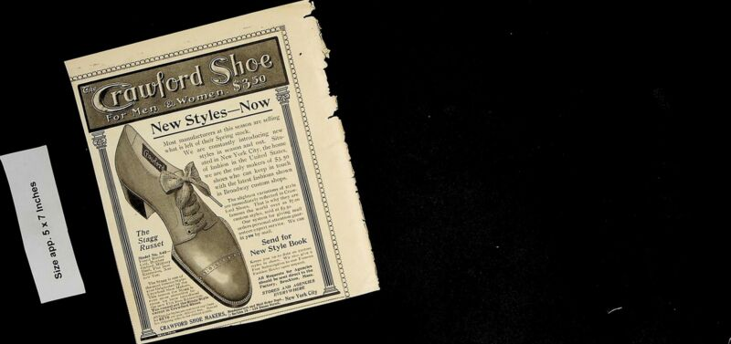 1904 Crawford Shoe Men Women Stagg Russet Style Vintage Print Ad 5104