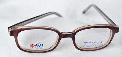 2e45046bf06 SAFETY FRAME Titmus FC705 T705 Eyeglasses Frames Brown 50-19-140 NEW 0525