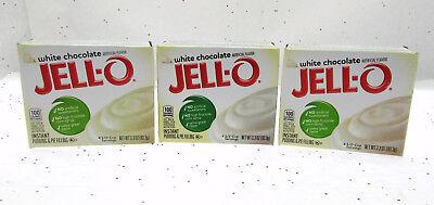 Jello Chocolate Pudding Pie - Jello White Chocolate Dessert Instant Pudding Pie Filling 3.3oz box ~ Lot of 3