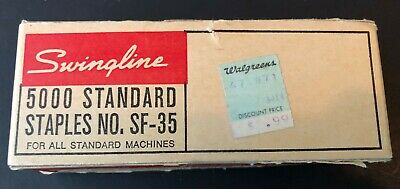 Swingline 5000 Standard Staples Sf 35 With Walgreens 99c Sticker Vintage Old