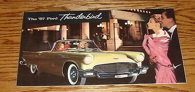 1957 Ford Thunderbird Foldout Sales Brochure 57 T-Bird