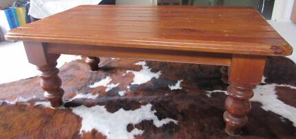 Arthur B. Cumbers Hand Crafted Redwood Coffee Table