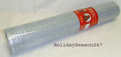 Holiday Living 30' Decorative Mesh Christmas Holiday Wedding Ribbon Garland Blue ()