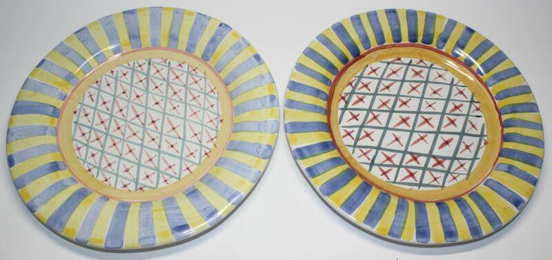 2 MACKENZIE CHILDS MONET DINNER PLATES