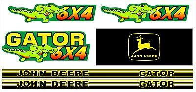 John Deere Gator 6x4 - Set Decal - Graphics Kit