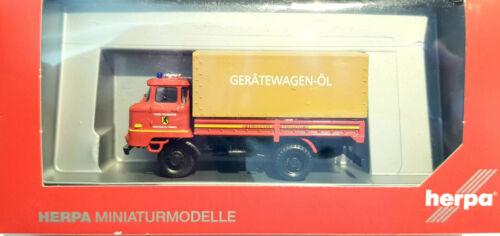 herpa 091046 IFA L 60 Pritsche Gerätewagen-Öl