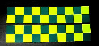 Magnetic Reflective Battenberg Side Reflectors 1500mm Green/Yellow