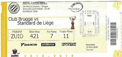 Ticket: Club Brugge (Bruges) - Standard Super Coupe Belgique SUPERCUP (22-7-18)