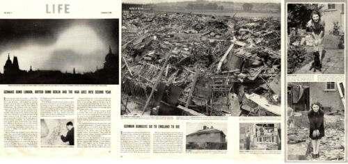 1940 WW2 Battle of Britain article GERMANS BOMB LONDON , BRITISH BERLIN 021419