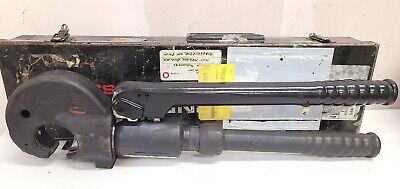 Burndy Y35-2 12 Ton Hydraulic Hypress Crimping Tool Crimper In Case