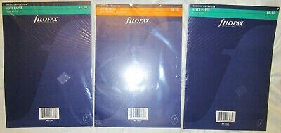 Three Filofax 172405 170201 B5 Deskfax Organizer B5 Note Paper And Address